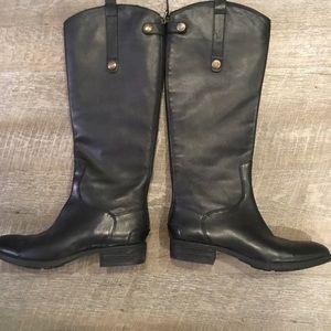 Sam Edelman Black leather riding boots size 7